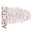 artic tours text background word cloud concept vector image vector image