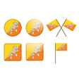 badges with flag of Bhutan vector image