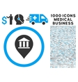 Bank Building Pointer Icon with 1000 Medical vector image vector image