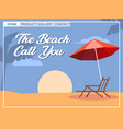 beach holiday cubism style for homepage design vector image vector image