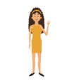 beautiful woman character people standing vector image vector image