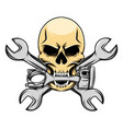 bikers logo inspiration death skull vector image