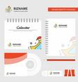 bird logo calendar template cd cover diary and vector image vector image