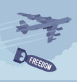 bomber and freedom bombing vector image vector image