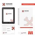 bones business logo tab app diary pvc employee vector image vector image