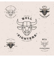 bull head logo set vector image