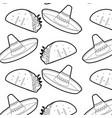 burrito and hat design vector image vector image