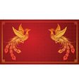 Chinese phoenix template vector image vector image