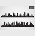 city skyline flat style vector image vector image