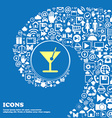 cocktail sign symbol Nice set of beautiful icons vector image vector image