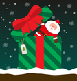 cute fat big Santa Claus come out of gift box vector image vector image