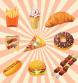 fast foods vector image vector image