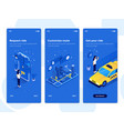 flat design oneboarding concepts - isometric vector image vector image