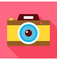 Flat Photo Camera with Long Shadow vector image vector image