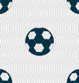 Football icon sign Seamless pattern with geometric vector image