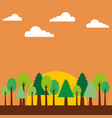 forest natural trees sunset landscape vector image vector image