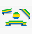 gabon flag stickers and labels vector image vector image