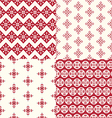 Geometric patterns ornament background vector image vector image