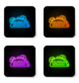 glowing neon taco with tortilla icon isolated on vector image vector image