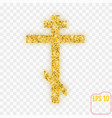 golden cross gold confetti concept vector image