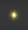 golden star transparent glow light effect vector image