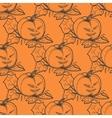 Hand drawn doodle Halloween pampkin Black pen vector image vector image