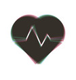 heartbeat sign colorful icon vector image vector image
