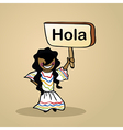 Hello from Mexico people vector image vector image