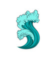 high sea tide bright blue vector image vector image