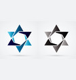 israel star modern star luxury graphic vector image vector image