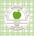 jam label design template for apple dessert vector image