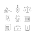Law and justice icon set suitable for info vector image vector image