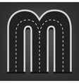 M letter Road font vector image vector image