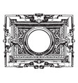 modern french architectural frame is surrounded vector image vector image