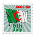 national day of Algeria vector image vector image