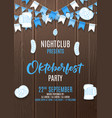 oktoberfest party flyer invite vector image