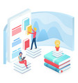 online education isometric vector image