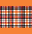 orange plaid seamless fabric texture vector image vector image
