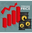Petroleum and oil prices design vector image