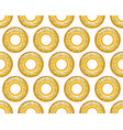 poppy bagel pattern vector image