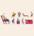 psychotherapy consulting people dialogue crowd vector image vector image