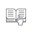 reading of books line icon concept reading of vector image vector image