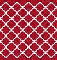 red quatrefoil outline ornamental pattern vector image