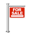 red sign for sale isolated background vector image vector image