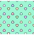Rounded triangle seamless pattern vector image vector image