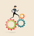 running business work concepthappy businessman vector image