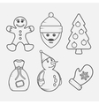 set christmas signs and symbols vector image vector image