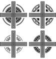 set fantasy crosses vector image