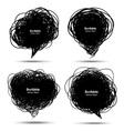 Set of Scribble black bubbles vector image vector image
