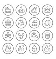set round line icons of water vector image vector image